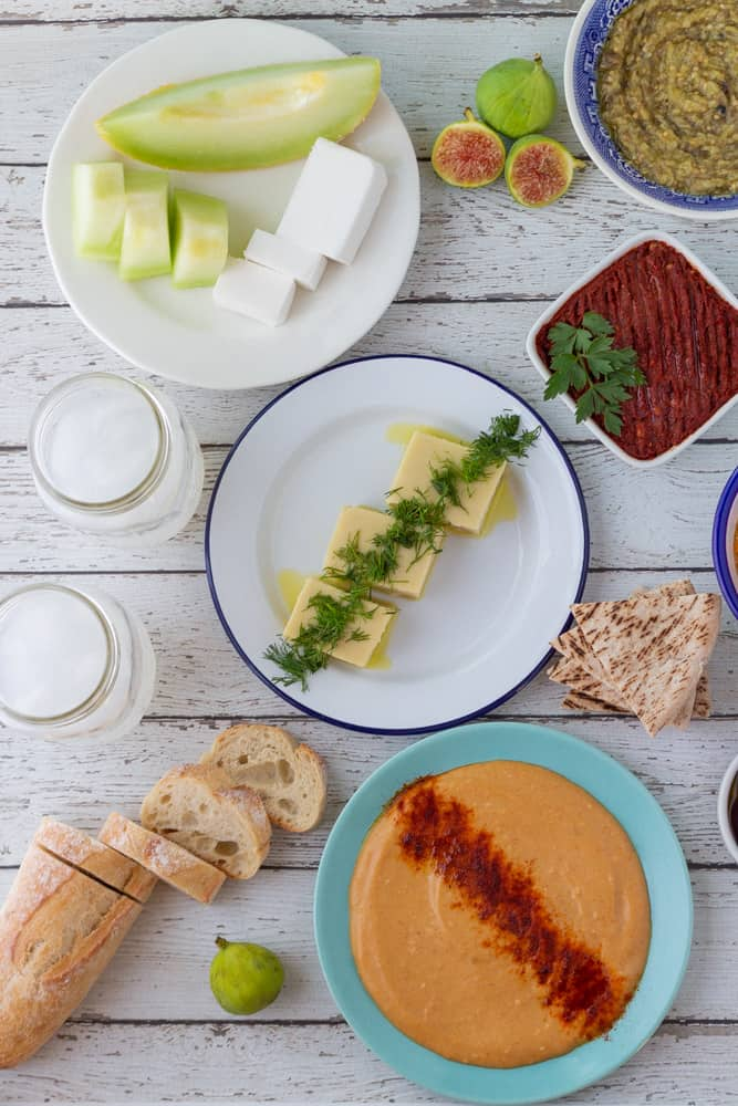 turkish mezze spread