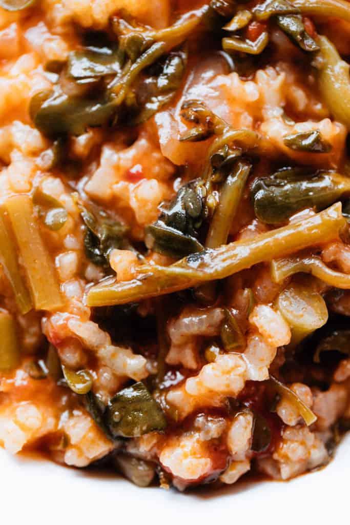 Purslane Recipe with Rice & Tomatoes